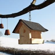 Kleines Vogel-Futterhaus