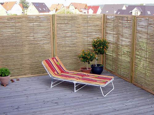Sichtschutz aus Bambus selber bauen