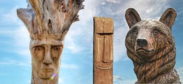 Holz, Kunst und Skulpturen