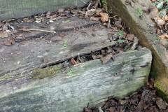 Holzbohlen aufbessern